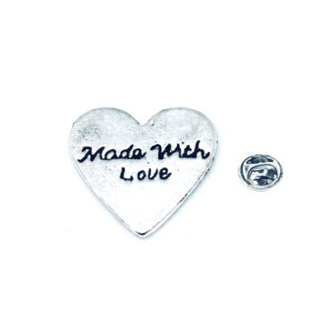 Silver plated Heart Lapel Pin