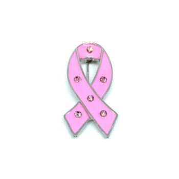Dark Pink Enamel Ribbon Pin
