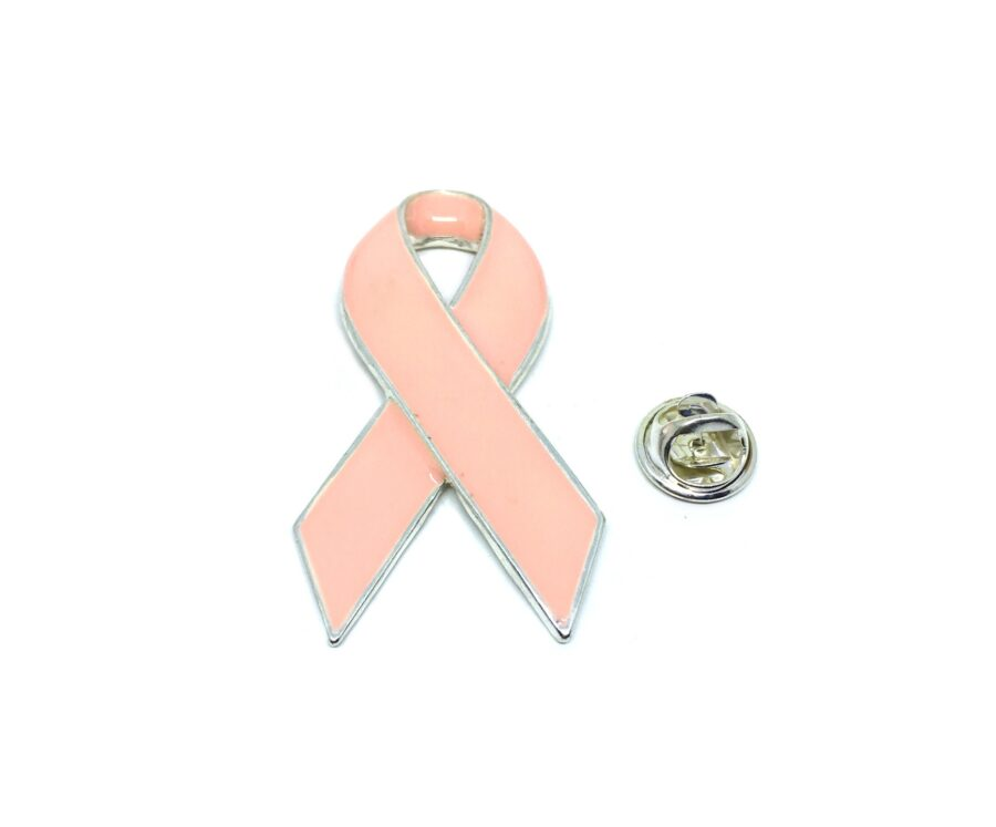 Gold plated Enamel Pink Ribbon Lapel Pin