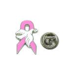 Dove Pink Ribbon Lapel Pin
