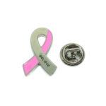 Believe Pink Ribbon Lapel Pin