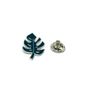Green Enamel Leaf Lapel Pin