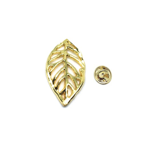 Gold plated Leaf Pin