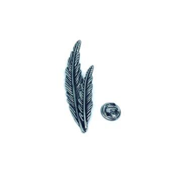 Silver tone Leaf Pin