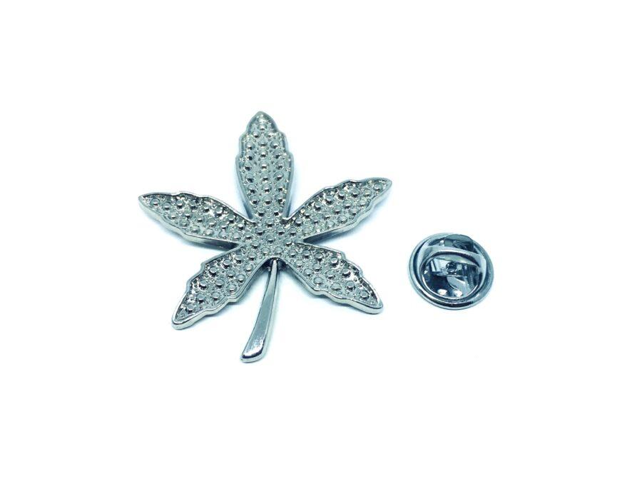 Silver platting Leaf Pin