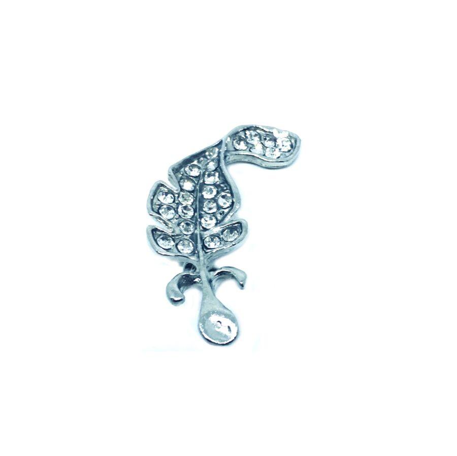 Crystal Leaf Pin