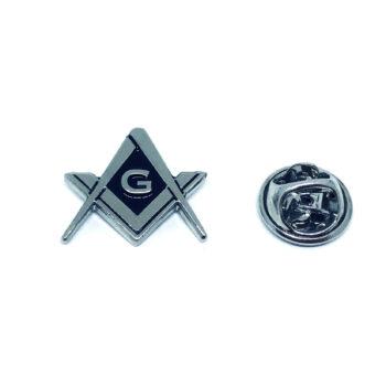 Black Enamel Masonic Pin