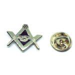 Gold plated Enamel Masonic Pin