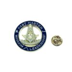 Gold tone Enamel Masonic Pin