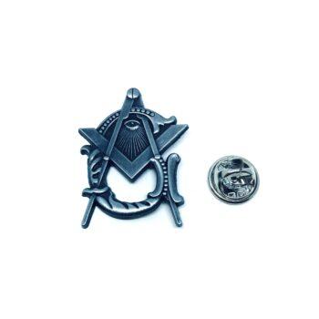 Silver plated Masonic Pin