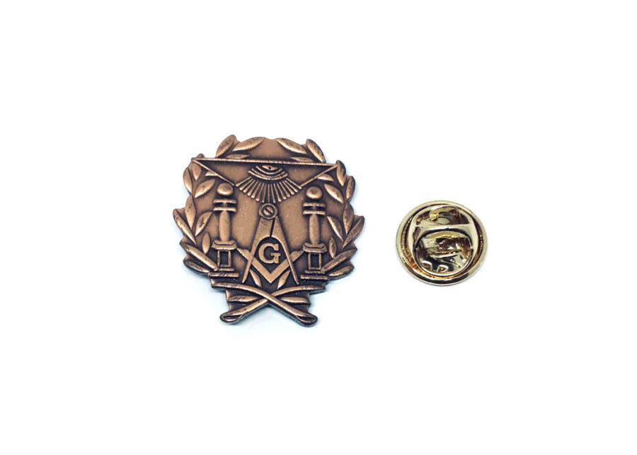 Gold tone Masonic Lapel Pin