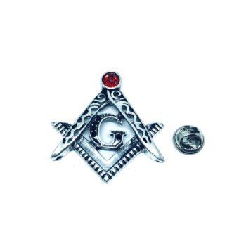 Silver tone Masonic Pin