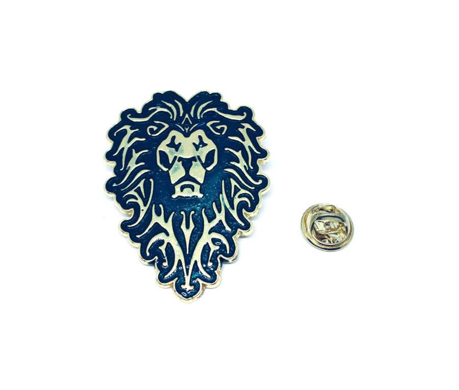 Lion Enamel Military Pin