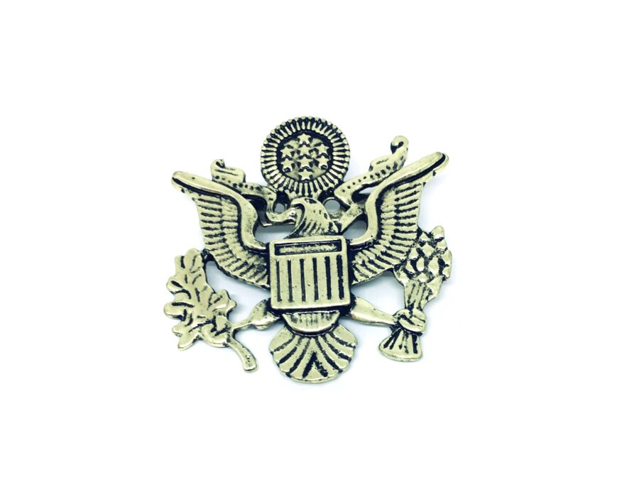 Gold plated Eagle Military Brooch Pin