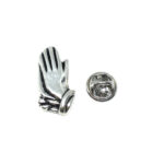 Silver plated Praying Hands Lapel Pin