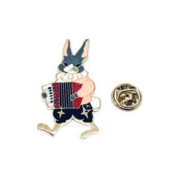 Music Rabbit Enamel Pin