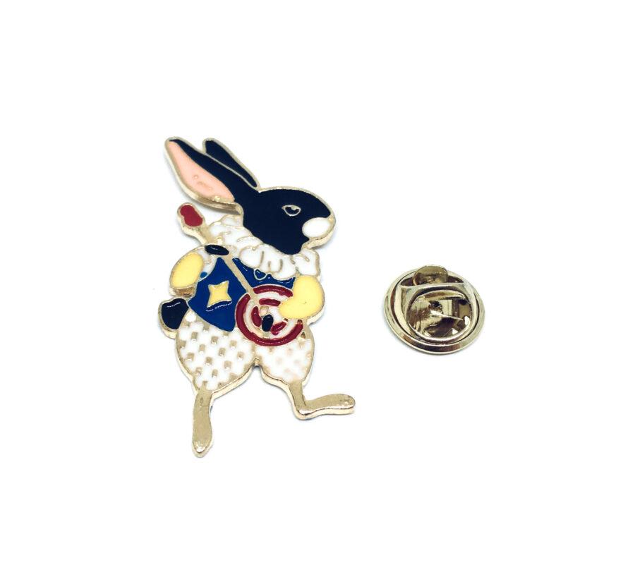 Music Rabbit Lapel Enamel Pin