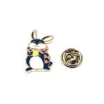 Gold plated Enamel Rabbit Pin