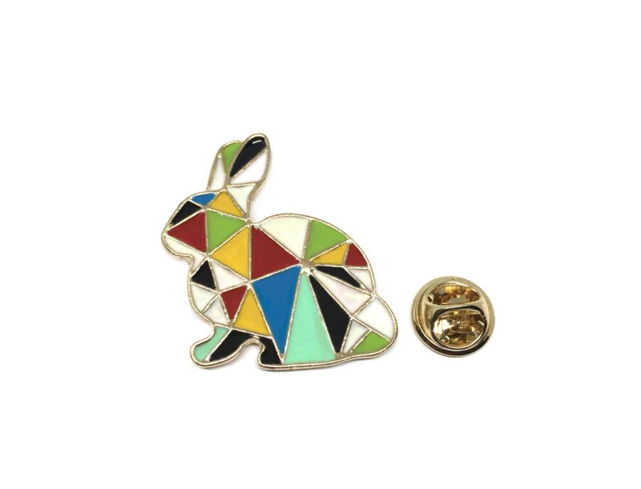 Multi-color Enamel Rabbit Lapel Pin