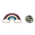 Gold tone Enamel Rainbow Lapel Pin
