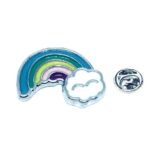 Silver plated Enamel Rainbow Pin
