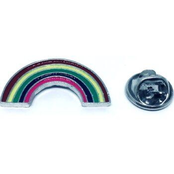 Silver plated Enamel Rainbow Lapel Pin