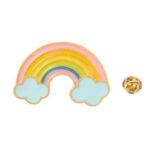 Gold plated Enamel Rainbow Pin