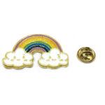 Enamel Cloud Rainbow Pin