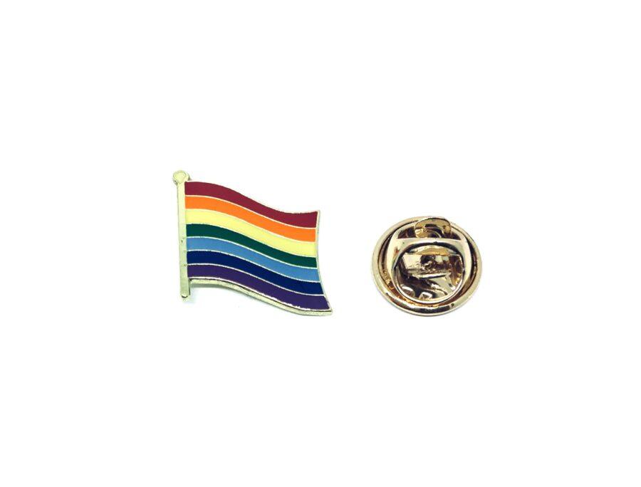 Rainbow Enamel Flag Pin
