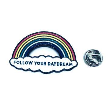 Silver tone Enamel Rainbow Pin