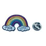 Silver tone Enamel Rainbow Lapel Pin