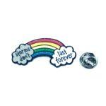Silver tone Rainbow Pin