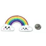 Silver platting Rainbow Pin