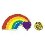 Love Heart Rainbow Lapel Pin