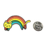 Cat Rainbow Lapel Pin