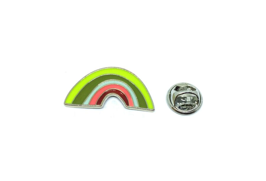 Silver plated Rainbow Lapel Pin