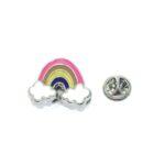 Multi-color Enamel Rainbow Lapel Pin