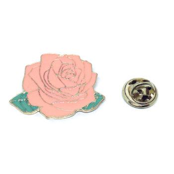 Purple Enamel Rose Lapel Pin