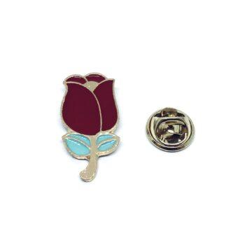 Rose Enamel Lapel Pin