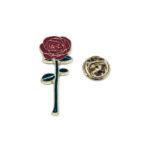 Gold plated Enamel Rose Pin