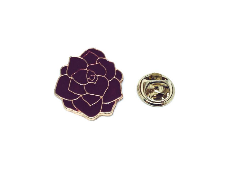 Red Enamel Rose Lapel Pin