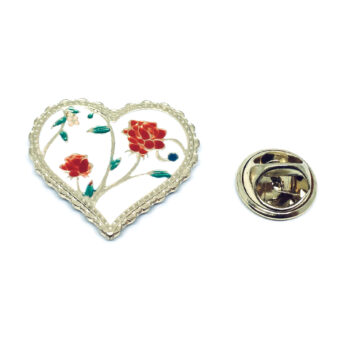Gold plated Rose Lapel Pin