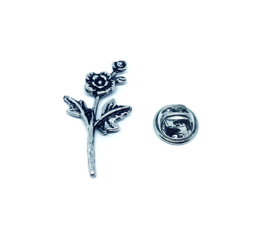 Silver plated Rose Pin