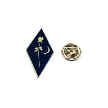 Black Enamel Rose Lapel Pin