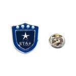 Blue Enamel Star Lapel Pin