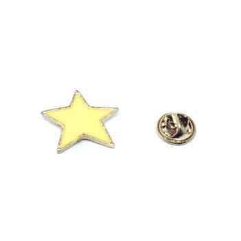 Yellow Enamel Star Lapel Pin