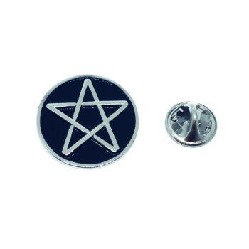 Black Enamel Star Lapel Pin