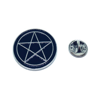 Silver plated Enamel Star Pin
