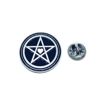 Silver plated Enamel Star Lapel Pin