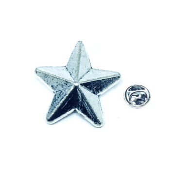 Silver plated Star Lapel Pin